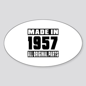 Made In 1957 Sticker (Oval)