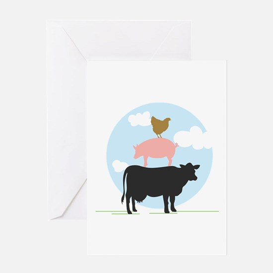 Farm Animals Greeting Cards