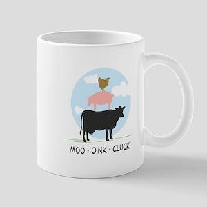 Moo Oink Cluck Mugs