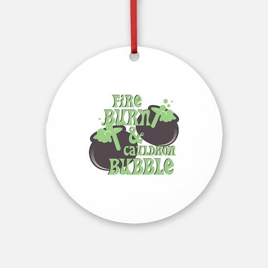 Cauldrom Bubble Round Ornament