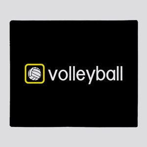Volleyball (Yellow) Throw Blanket