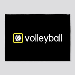 Volleyball (Yellow) 5'x7'Area Rug