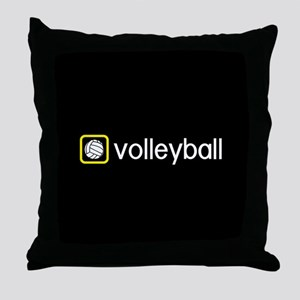Volleyball (Yellow) Throw Pillow