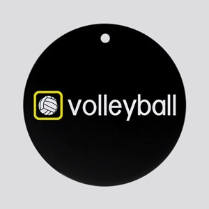 Volleyball (Yellow) Round Ornament