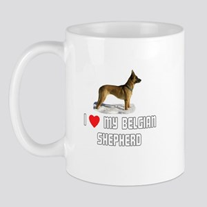 I Love My Belgian Shepherd Mug