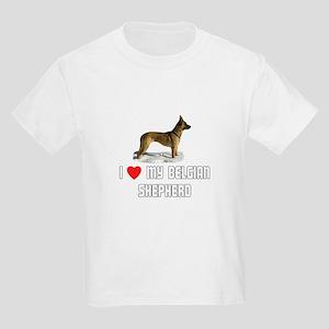 I Love My Belgian Shepherd Kids Light T-Shirt
