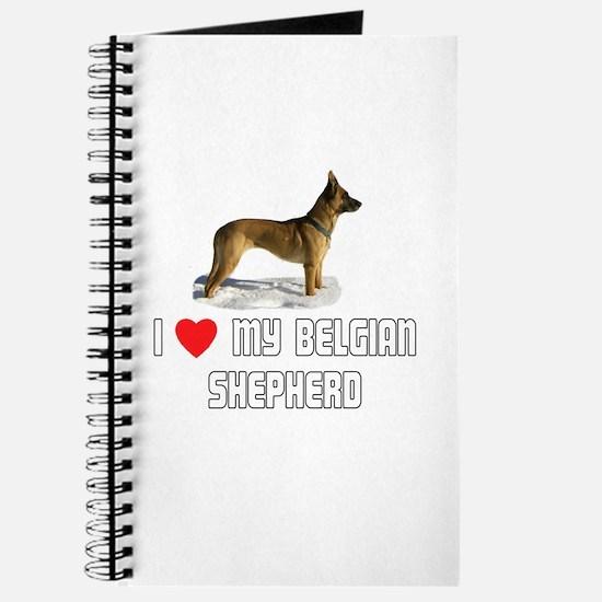 I Love My Belgian Shepherd Journal