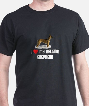 I Love My Belgian Shepherd T-Shirt