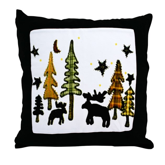 Kohls Moose Throw Pillow : Moose Winter Scene Throw Pillow by moosescene