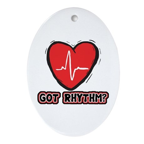 Got Cardiac Rythm? Oval Ornament