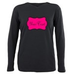 Personalizable Hot Pink and Black Plus Size Long S