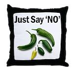 Just Say 'NO' - Crohn's Throw Pillow