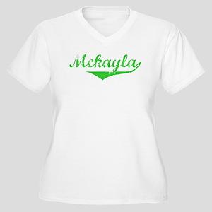 Mckayla Vintage (Green) Women's Plus Size V-Neck T