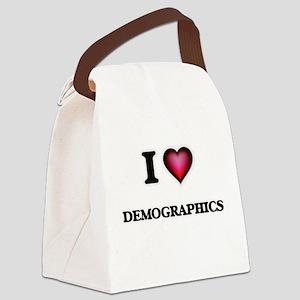 I love Demographics Canvas Lunch Bag