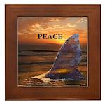 PEACE WHALE Framed Tile