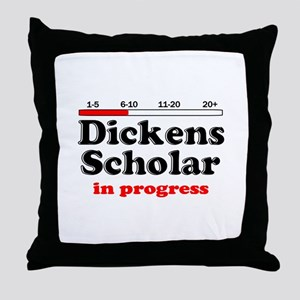 Dickens Scholar Throw Pillow