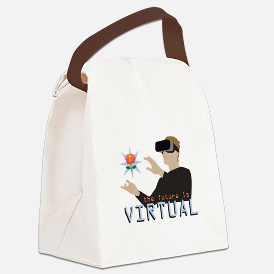 The Future Is Virtual Canvas Lunch Bag