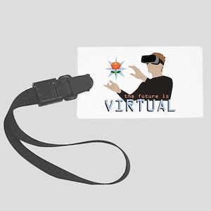The Future Is Virtual Luggage Tag