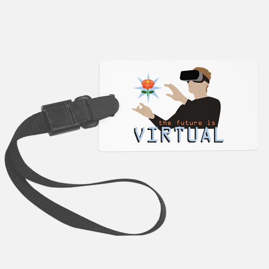 The Future Is Virtual Luggage Tag