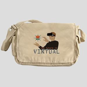 The Future Is Virtual Messenger Bag