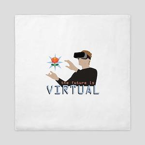 The Future Is Virtual Queen Duvet