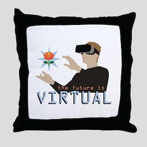 The Future Is Virtual Throw Pillow