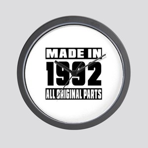Made In 1992 Wall Clock