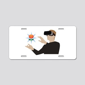 Virtual Reality Aluminum License Plate