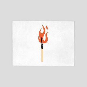 Burning Matchstick 5'x7'Area Rug