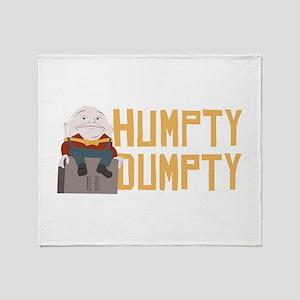 Humpty Dumpty Throw Blanket