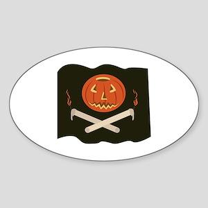 Jack-O-Lantern Flag Sticker