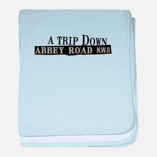 Trip Down Abbey Road baby blanket