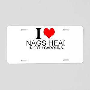 I Love Nags Head, North Carolina Aluminum License