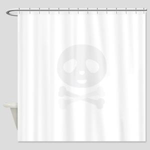 Kawaii Panda pirate skull Shower Curtain