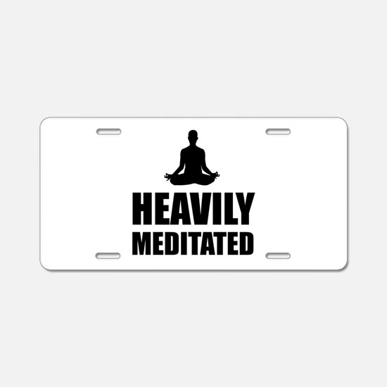 Heavily Meditated Aluminum License Plate