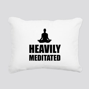 Heavily Meditated Rectangular Canvas Pillow