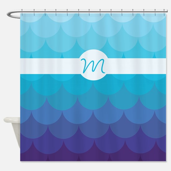 Mermaid Monogram Shower Curtain