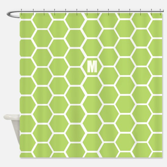 Hexagon Personalized Shower Curtain