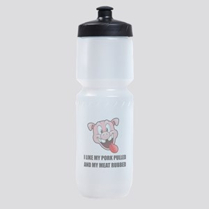 Pork Pulled Meat Rubbed BBQ Sports Bottle