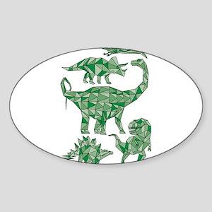 Geometric Dinosaurs Sticker