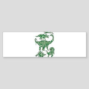 Geometric Dinosaurs Bumper Sticker