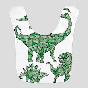 Geometric Dinosaurs Polyester Baby Bib