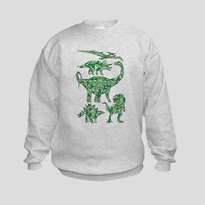 Geometric Dinosaurs Kids Sweatshirt