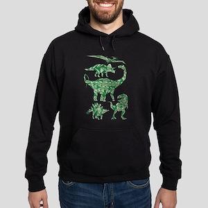 Geometric Dinosaurs Hoodie (dark)
