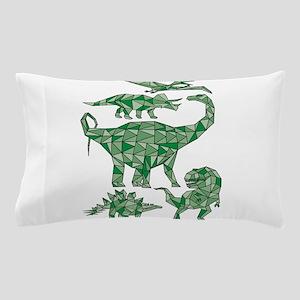 Geometric Dinosaurs Pillow Case