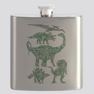 Geometric Dinosaurs Flask
