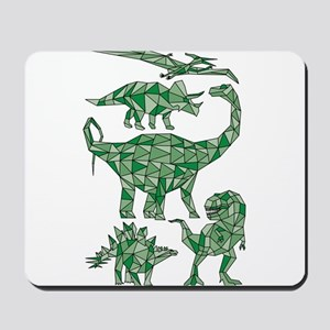 Geometric Dinosaurs Mousepad