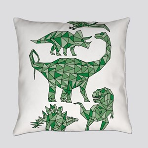 Geometric Dinosaurs Everyday Pillow