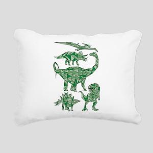 Geometric Dinosaurs Rectangular Canvas Pillow