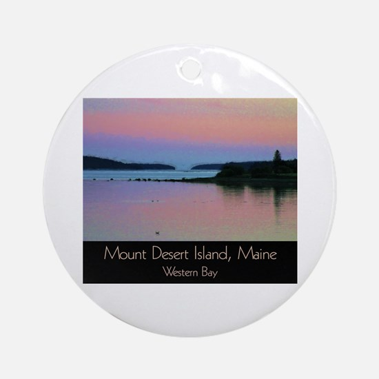 Cute Mt desert island Round Ornament